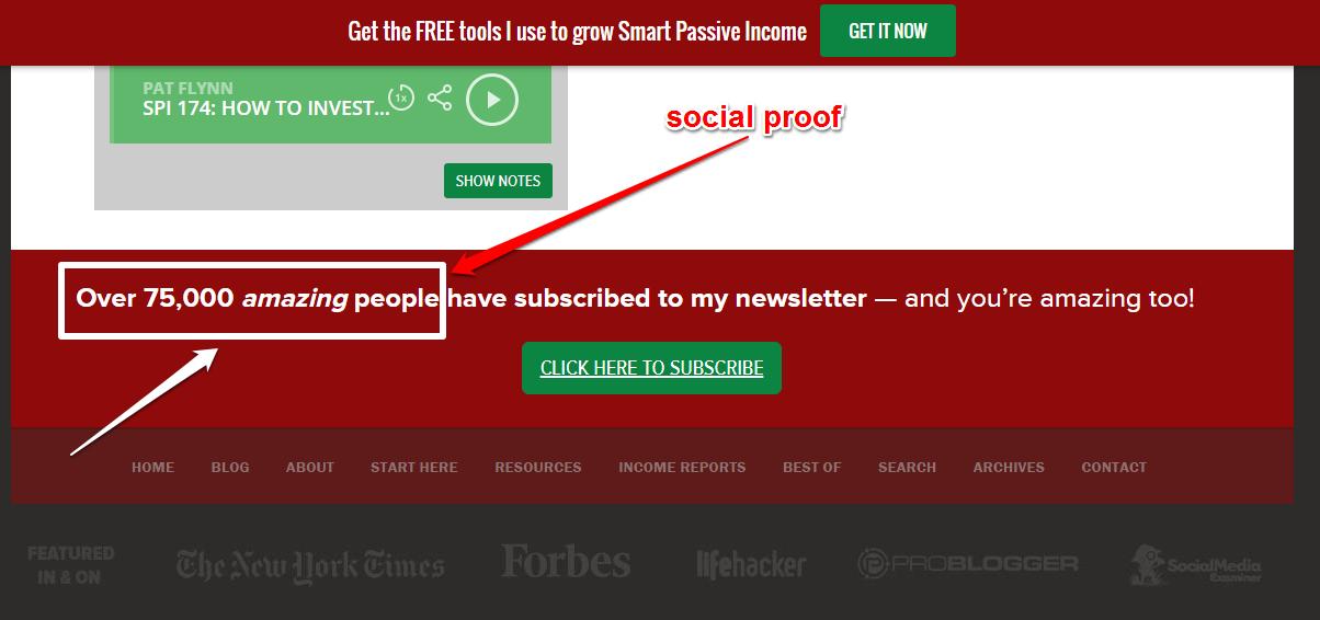 smart passive income cta example