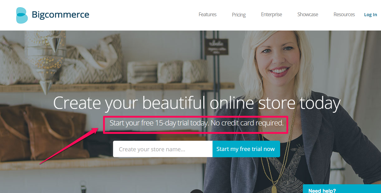 bigcommerce CTA Example