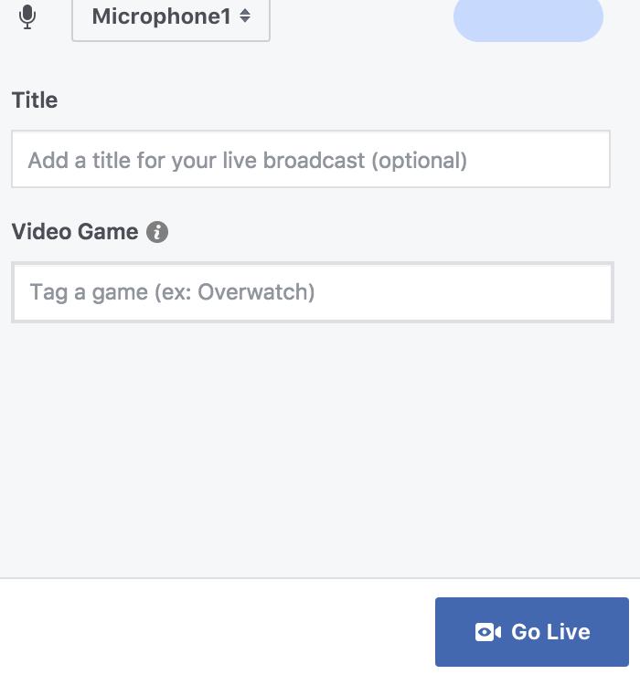 go live facebook content marketing