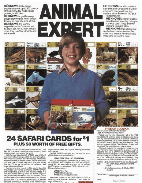 safari cards content marketing example