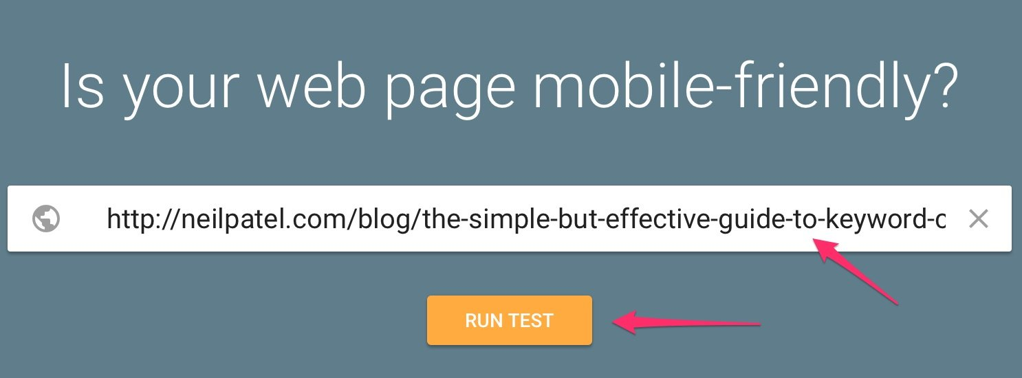 Mobile Friendly Test Google Search Console